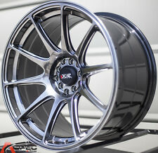 "18X8.75"" XXR 527 WHEELS 5X100/114.3 +20 BLACK RIMS FITS SCION TC FRS HONDA CIVIC"