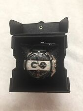 NWT DIESEL Ironside Chronograph Black Dial Black Leather Men's Watch List $260