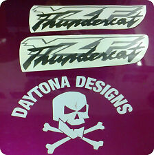 YZF THUNDERCAT SILVER & BLACK  CUSTOM FAIRING DECALS STICKERS GRAPHICS