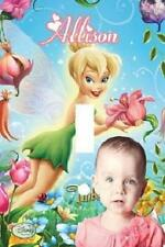 PERSONALIZED YOUR PHOTO DISNEY TINKERBELL FAIRY LIGHT SWITCH PLATE COVER