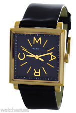 Marc by Marc Jacobs Truman Black Dial Black Leather Ladies Watch MBM1279