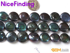 """14mm Coin Freshwater Pearl Loose Stone Beads For Jewelry Making Gemstone 15"""" DIY"""