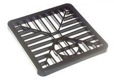 2 X Negro Plástico Cuadrado Desagüe gulley parrilla cubierta 150mm 6 Pulgadas (2 Pack)
