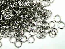 200 Pcs -  4mm Antique Silver Jump Rings Jewellery Craft Findings Beading O165