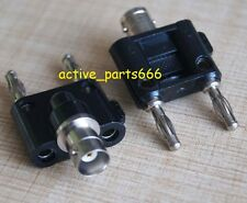 1x Adapter BNC Female jack to two dual 4mm Banana binding Male connector 1F2M