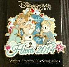 Disney Pin DLP Paris Winter Hiver 2014 Frozen Anna Elsa Olaf Young LE 600