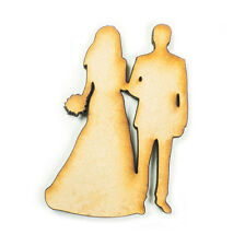 MDF Wood Wooden Shape Shapes Bride Groom Couple Cutout Craft Wedding Decor