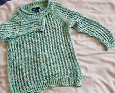 GAP girl knitted jumper sweater top long sleeve green 4-5 years