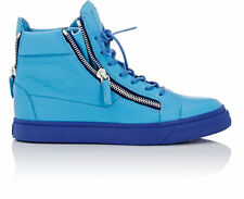 Giuseppe Zanotti Cobalt Blue Leather Double-Zip High-Top Sneakers 40 US 7 $710