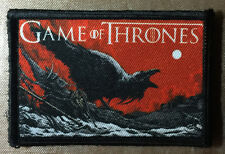 Game of Thrones Logo Crow Morale Patch HBO Jon Snow Black Watch tactical