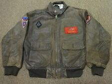 VTG AVIREX ARMY G-1 LEATHER JACKET SZ XL MEN MOTORCYCLE BOMBER WESTERN FLYERS