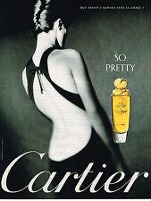 PUBLICITE ADVERTISING 025  1998  CARTIER   eau de parfum SO PRETTY