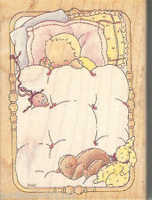 All Night Media Rubber Stamp 871H Sleepytime Baby SSBD1-7