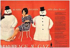 Publicité Advertising 1965 (2 pages) Le chauffage au Gaz ..Gaz de France
