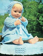 "Dolls clothes knitting pattern. 20""  and  25"" doll. Laminated copy. (V Doll 53)"
