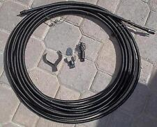 """1/2"""" SEWER SNAKE CABLE 75FTw/ DRAIN BITS AUGERS CUTTERS KINK FREE Inter SS wire"""