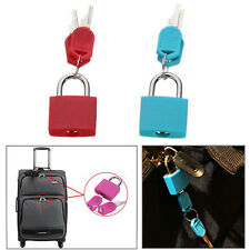 Two 20mm Locks Travel Luggage Bag Padlock Gym Locker Suitcase Lock With Keys