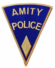 "Jaws Movie Amity Police Shoulder Logo Yellow 3"" Tall Patch"