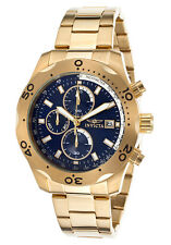 Invicta 17751 Men's Specialty Chronograph 18k Gold Plated Steel Blue Dial