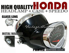 HONDA S90 SS50 CS50 CF50 CF70 CL70 SL90 HEAD LIGHT+SPEEDOMETER+CASE *M-BLACK [V]