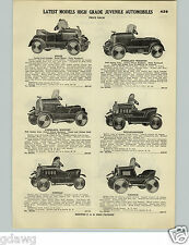1928 PAPER AD Pedal Car Cars Overland Whippet Willys Knight Lincoln Buick Nash