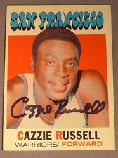 CAZZIE RUSSELL autographed  signed 1971-72 Topps San Francisco Warriors