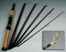 Portable! 2.1m 6 Sections Travel Fishing Rod Spinning Rods Carbon Fishing Pole