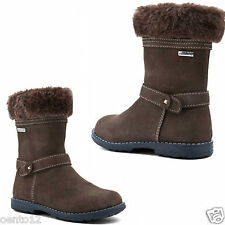 START RITE BROWN AQUA FUR INFANT GIRLS ZIP UP BOOTS WATERPROOF 5.5 F