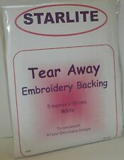 Starlite Tear Away Embroidery Backing / Stabiliser 5 metres x 90cms - A988
