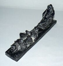 VINTAGE THE WOLF SCULPTURES SOAPSTONE DOG SLED