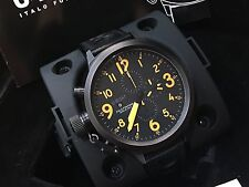1089 U-Boat Flightdeck 55mm Mens Automatic U-7750/55 Chronograph BLK Strap Watch