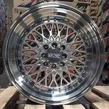 XXR 536 15 x 8 +0 Silver Deep Dish Step Lip Wheels Rims 4x100 4x114.3 Hellaflush