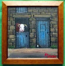 Best of Neighbours : Original Framed Oil Painting Famous Artist James Downie
