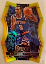 2016-17 SELECT BRANDON JENNINGS GOLD DIE CUT PRIZM REFRACTOR 38/75  SP KNICKS