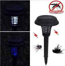 Anti Mosquito Solar Powered LED UV light Pest Bug Zapper Insect Killer Lamp