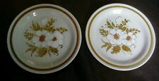 Vintage Mountain Wood Stoneware Dried Flowers Japan Side Plates