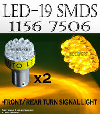 JDM 2 pcs 1156 Direct Replacement 19 LED Socket Rear Turn Signal Amber BulbS6068