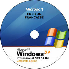 Windows XP SP3 Professionel 32 bits français - DVD installation - sans licence