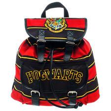Harry Potter Backpack Hogwarts School Bag Crest Striped Rucksack Shoulder Bags