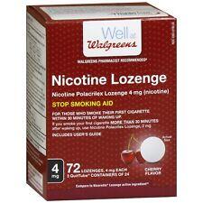 Walgreens Nicotine Lozenge, 4mg, Cherry 72 ea