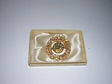 Brooch/Pin Necklace Pendant Gold? Daughter's of Rebekah IOOF NEW vtg RHINESTONES