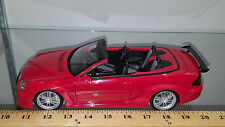 1/18 MERCEDES BENZ CLK DTM AMG CABRIOLET RED AND DARK INTERIOR BY KYOSHO