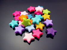 FREE Lot 100PCS NWT bulk Mixed colors Acrylic Star Spacer Charms Loose Beads 9mm