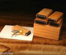 DELUXE HOPPER WING 5 CUTTER SET Wood Box Fly Tying with Wood Caddy