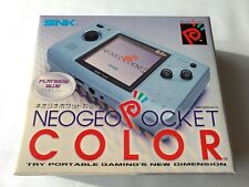 Mint SNK NEOGEO POCKET Color PLATINUM BLUE Console Boxed NEO GEO/Tested-S-