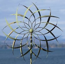 New Garden Wind Spinner Windmill Yard Decor Kinetic Metal Outdoor Art Sculpture