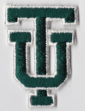 "TULANE UNIVERSITY GREEN WAVE NCAA COLLEGE 2.25"" TU INTERLOCKED LETTERS PATCH"