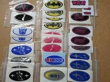 Custom made grill x1 boot, wing domed gel badges - VW, Ford, Subaru, Evo, etc...