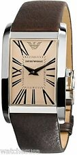 Emporio Armani Men's AR2032 Rectangular Amber Dial Watch