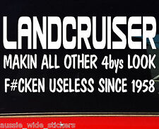 LAND CRUISER 4x4 ACCESSORIES STICKER FUNNY USELESS DECAL 4WD 14 COLORS FREE POST